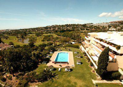 Exteriores Hotel del Golf - Vista aerea piscina